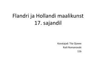 Flandri ja Hollandi maalikunst 17. sajandil