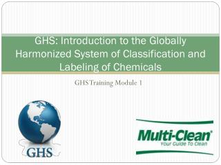 GHS: Introduction to the Globally Harmonized System of Classification and Labeling of Chemicals