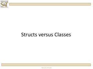 Structs  versus Classes