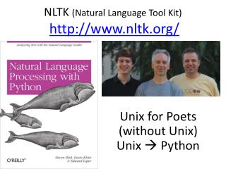NLTK  (Natural Language Tool Kit) nltk/