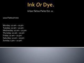 Ink  Or  Dye.