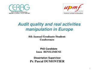PhD  Candidate Imen BenSlimene
