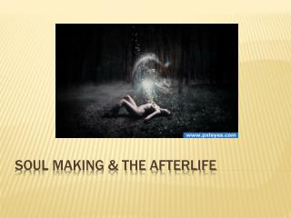 Soul Making & The Afterlife