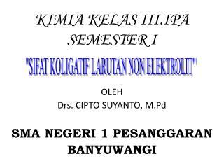 KIMIA KELAS III.IPA SEMESTER I