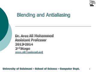 Blending and Antialiasing