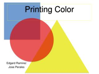 Printing Color