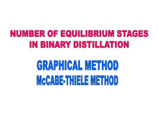 NUMBER OF EQUILIBRIUM STAGES IN BINARY DISTILLATION