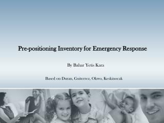 Pre-positioning Inventory for Emergency Response