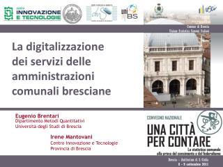La digitalizzazione dei servizi delle amministrazioni comunali bresciane