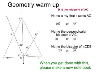 Geometry warm up