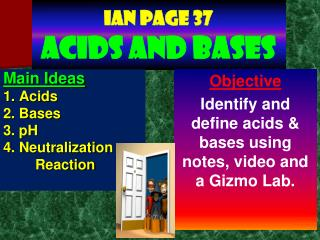Ian page 37 Acids and Bases