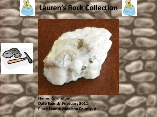 Lauren's Rock Collection