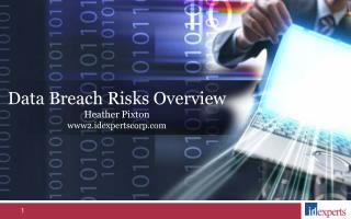 Data Breach Risks Overview Heather Pixton www2.idexpertscorp