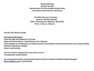 Free Blood Pressure Screening  Free Blood Pressure Screening