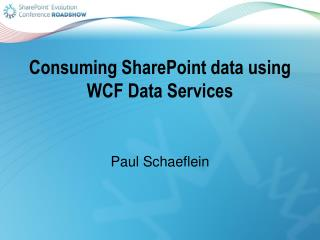 Consuming SharePoint data  using WCF Data Services