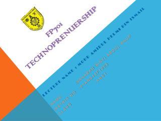 FP701  Technoprenuership