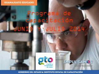 Programa de capacitación  JUNIO Y JULIO 2014