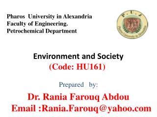 Environment and Society  (Code: HU161)
