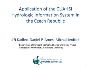Application of the CUAHSI Hydrologic Information System in the Czech Republic