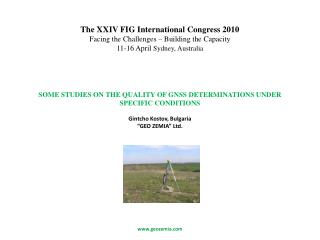 SOME STUDIES ON THE QUALITY OF GNSS DETERMINATIONS UNDER SPECIFIC CONDITIONS
