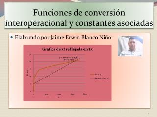 Funciones de conversión interoperacional y constantes asociadas