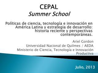 CEPAL Summer School