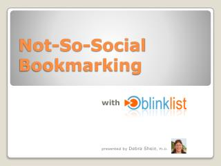Not-So-Social Bookmarking