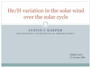 He/H  variation in  the solar  wind over the solar cycle