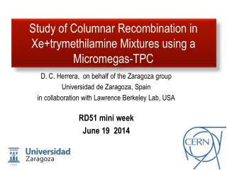 Study of Columnar Recombination in  Xe+trymethilamine  Mixtures using a  Micromegas -TPC