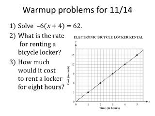 Warmup problems for 11/14