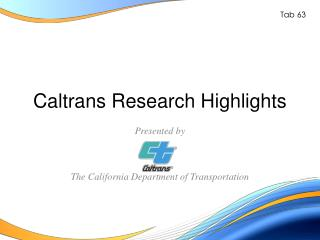 Caltrans Research Highlights