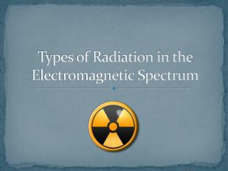 Types of Radiation in the Electromagnetic Spectrum