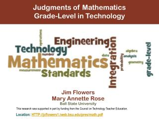 Judgments of Mathematics  Grade-Level  in Technology