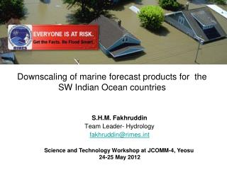 Downscaling of marine forecast products for  the SW Indian Ocean countries