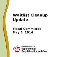 Waitlist Cleanup  Update Fiscal Committee May 5, 2014