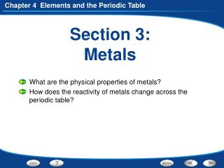 Section 3: Metals