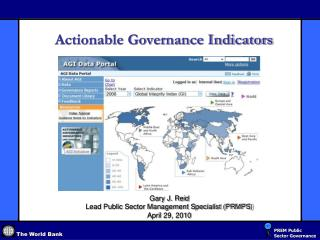 Actionable Governance Indicators