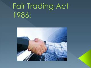 Fair Trading Act 1986: