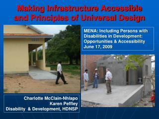 Making Infrastructure Accessible and Principles of Universal Design