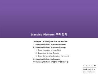 Branding Platform  구축 전략