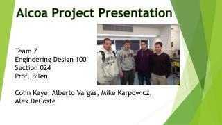 Alcoa Project Presentation
