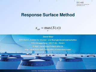 Response Surface Method