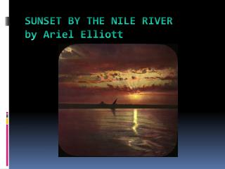 SUNSET BY THE NILE RIVER by Ariel Elliott
