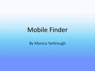 Mobile Finder