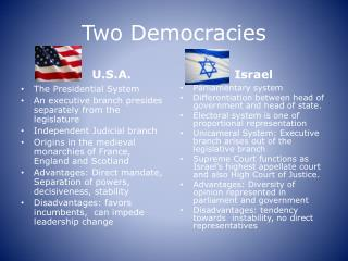 Two Democracies