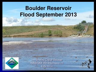 Boulder Reservoir Flood September 2013