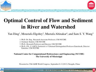 Optimal Control of Flow and Sediment in River and Watershed