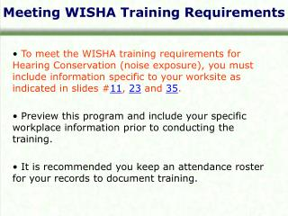 Meeting WISHA Training Requirements