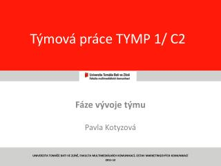 T�mov� pr�ce TYMP 1/ C2