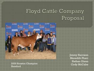 Floyd Cattle Company Proposal